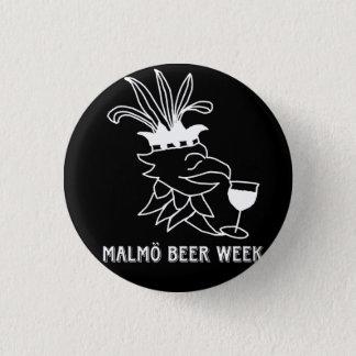 Malmö Beer Week badge Mini Knapp Rund 3.2 Cm