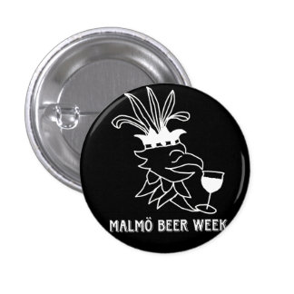Malmö Beer Week badge Mini Knapp Rund 3.2 Cm