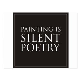 Målning är tyst poesi vykort