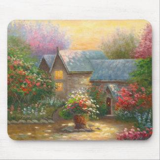 Målning av det A blommade landhemmet Musmatta