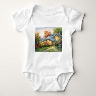 Målning av en privat stuga t-shirts