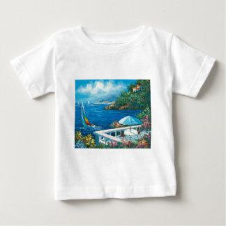 Målning av en segelbåt tshirts