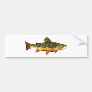 Målning för bäckforellfisk bildekal