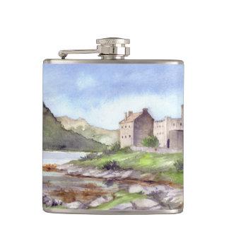 Målning för Eilean Donan slottvattenfärg Fickplunta