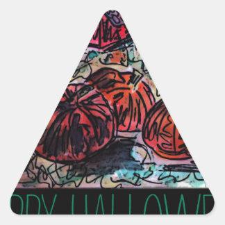 Målning för fält för happy halloweenart décopumpa triangelformat klistermärke