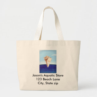 Målning för hav för Conchhavssnäckan, kanfas Jumbo Tygkasse