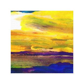 Målning för hav för hav för solnedgång för canvastryck