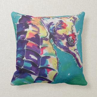 Målning för havshästsilke kudde