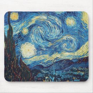 Målning för Impressionist Van Gogh för Starry natt Musmatta