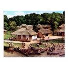 Målning för Kongoflodenbyakryl Vykort