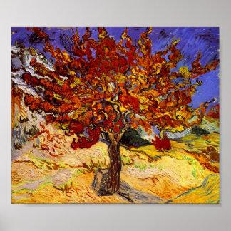 Målning för konst för Vincent Van Gogh mullbärsträ Print
