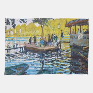 Målning för LaGrenouillere Claude Monet konst Kökshandduk