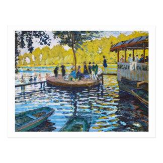 Målning för LaGrenouillere Claude Monet konst Vykort