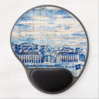 målning för mosaiklisbon blått belägger med tegel gel musmatta