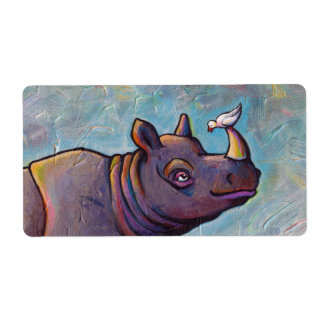 Målning för skvaller för fågel för noshörningkonst fraktsedel