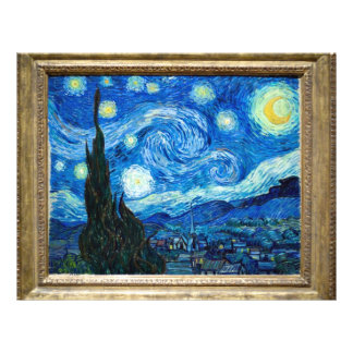Målning för Starry natt av målare Vincent Van Gogh Flygblad