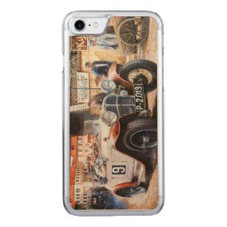 Målning för tävlings- bil för rishög carved iPhone 7 skal