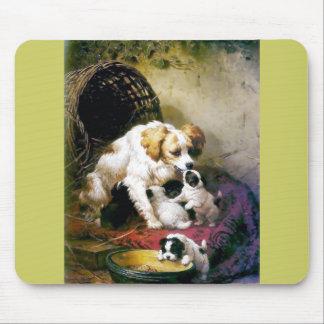 Målning för valpmorhund musmatta