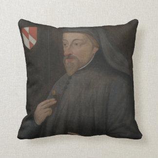 Målning för vintageGeoffrey Chaucer porträtt Kudde