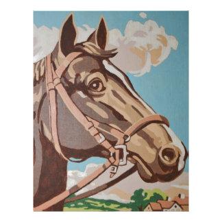 Målning för vintagehästhuvud brevhuvud