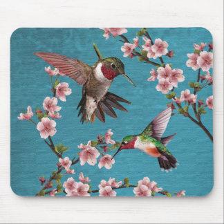 Målning för vintagestilHummingbird Musmatta