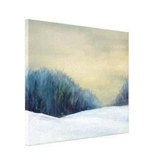 Målning för vinterskymningkonst canvastryck
