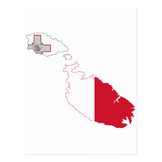 Malta flaggakarta vykort