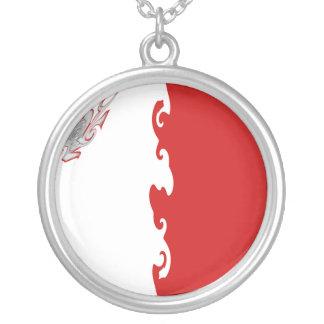 Malta Gnarly flagga Halsband Med Rund Hängsmycke