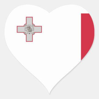 malta hjärtformat klistermärke