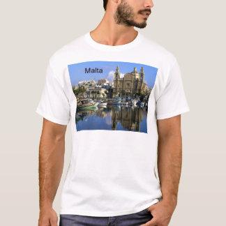 Malta Vallete hamn (St.K) Tee Shirt
