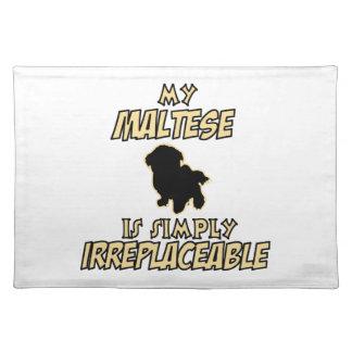 maltese hund design bordstablett