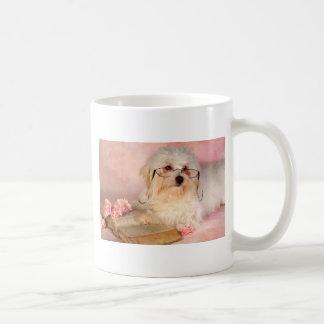 Maltesisk hund för vit kaffemugg