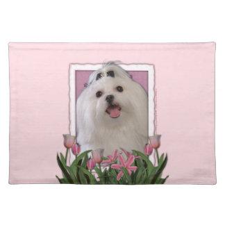 Maltesisk mors dag - rosa tulpan - bordstablett