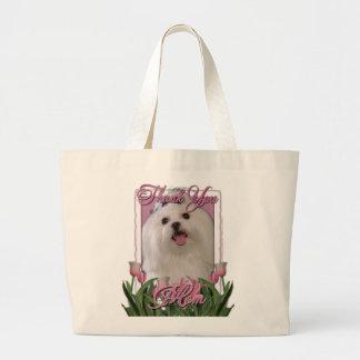 Maltesiskt tack - rosa tulpan - tote bags
