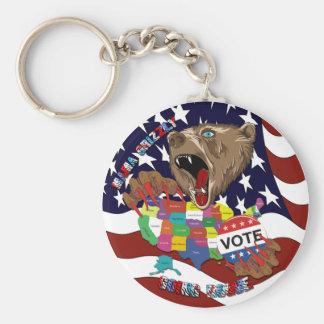 Mama-Grizzly-Keychain-1 Rund Nyckelring