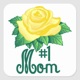 Mamma #1 fyrkantigt klistermärke