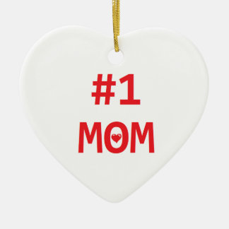 Mamma #1 julgransprydnad keramik