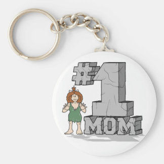 Mamma #1 rund nyckelring