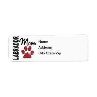 Mamma 2 för Labrador Retriever Returadress Etikett