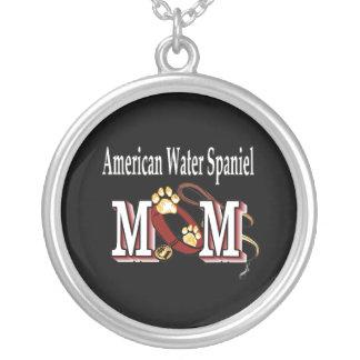 mamma för amerikanvattenspaniel silverpläterat halsband