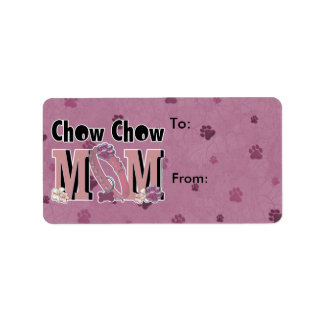 MAMMA för ChowChow Adressetikett