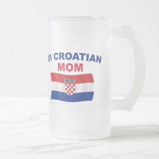 Mamma för kroat #1 frostat ölglas