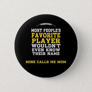 Mamma knäppas den favorit- fotbollsspelaresvarten standard knapp rund 5.7 cm