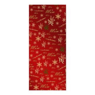 mamma, lycklig jul text för mor och mönster 10,2 x 23,5 cm inbjudningskort