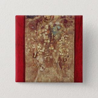 Mamma med den guld- kronan och allvarliga godor standard kanpp fyrkantig 5.1 cm