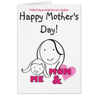 MAMMA & MIG - mors daghälsningar från dotter Hälsningskort