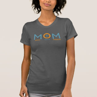 Mamma på beskickningkvinna Racerback T T Shirt