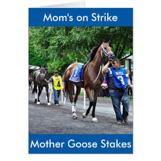 Mamma på strejka hälsningskort