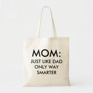 Mamma: precis likt mer smart roligt för pappa tygkasse
