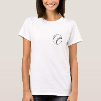 Mamma tänder den favorit- BB-/SBspelare skjortan T-shirts